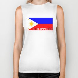 flag of Philippines Biker Tank