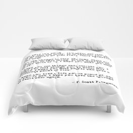 For what it's worth - F Scott Fitzgerald quote Comforters