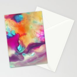 Spirit watercolor abstraction painting Stationery Cards