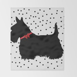Christmas Scottie Dog Throw Blanket