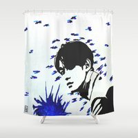 kpop Shower Curtains featuring Static Chen by Ahri Tao