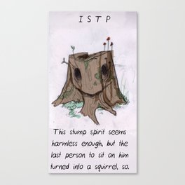 MBTI GHOSTS AND GHOULS - ISTP Canvas Print