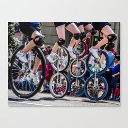 Unicyclers  Canvas Print