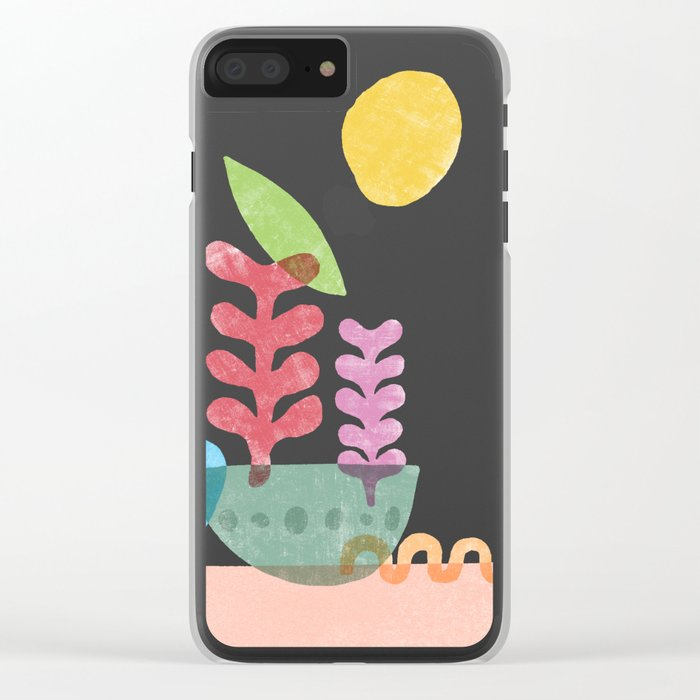 Still Life with Egg & Worm Clear iPhone Case