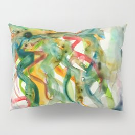 Jellyfish in Kaleidoscope Vision Pillow Sham