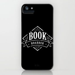Book Hoarder BW iPhone Case