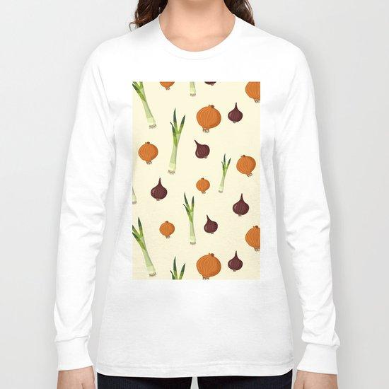 Onion pattern Long Sleeve T-shirt