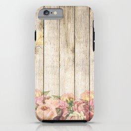 Wood Roses iPhone Case