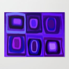 Violets in Blue Windows Canvas Print