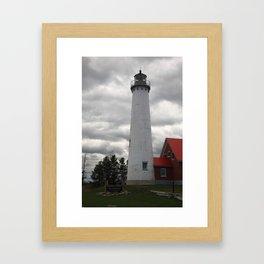 Lighthouse - Tawas Point, Michigan 2010 Framed Art Print