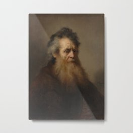 Portrait of an Old Man Metal Print