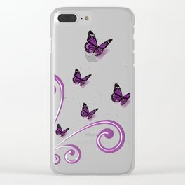 Blooming Butterflies Clear iPhone Case
