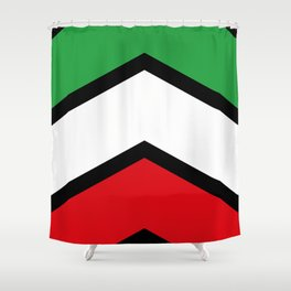 Chevron Iran Flag Colors Shower Curtain