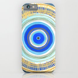 Turquoise Evil Eye Mandala iPhone Case