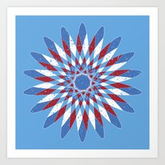 Distressed Kaleidoscope Art Print