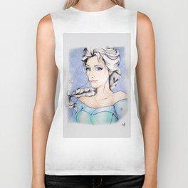 Elsa The Ice Queen Biker Tank