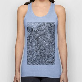 The Camouflaged Chameleon and the Monarch Butterfly by Kent Chua Unisex Tank Top
