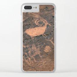 Desert Rock Art - Petroglyphs - II Clear iPhone Case