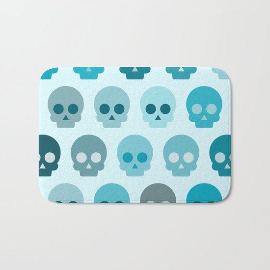 Colorful Skull Cute Pattern II Bath Mat