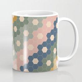 Hexagon Flowers Coffee Mug