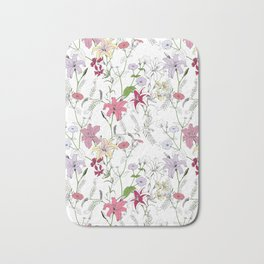 Flower pattern coloring Bath Mat