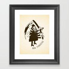 Non piangere Framed Art Print