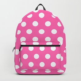 Hot Pink Polka Dots Backpack