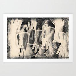 X-Ray of Vintage Gloves Art Print
