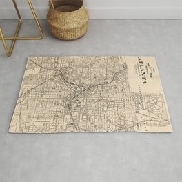 1906 Map of Atlanta, GA Rug