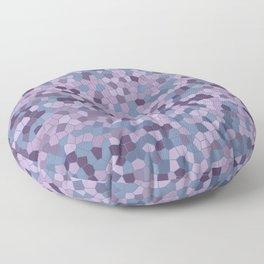 Mosaic pattern violet blue purple colors Floor Pillow