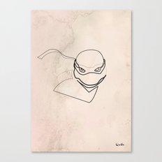 One line TMNT Canvas Print