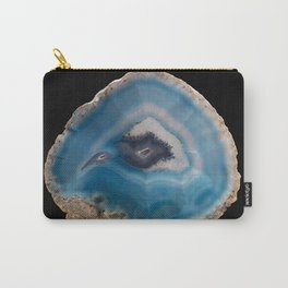Blue Geode Carry-All Pouch