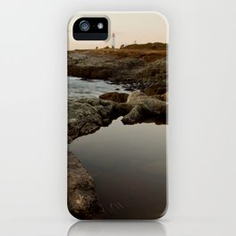 distant lighthouse iPhone Case
