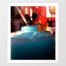 Blue Red Cereza Art Print