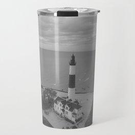 Black and White Lighthouse Travel Mug
