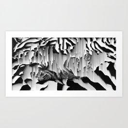Honey I Pixel Sorted The Cat Art Print