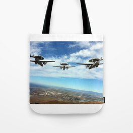 Hawkeyes Fly Over Tote Bag