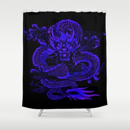 Epic Dragon Blue Shower Curtain