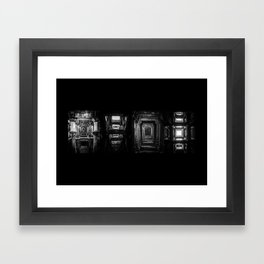 Indian Step Well Composition #1 Framed Art Print
