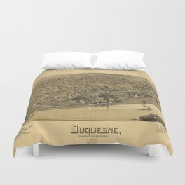 Aerial View of Duquesne, Allegheny County, Pennsylvania (1897) Duvet Cover