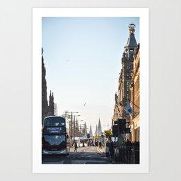 Edinburgh Princes Street Golden Hour Art Print