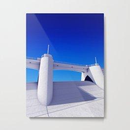 Sepulveda Dam on blue Metal Print