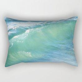 Teal Surf Rectangular Pillow