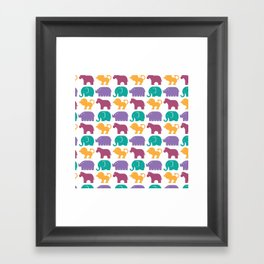 Fun at the Zoo: Pattern Framed Art Print