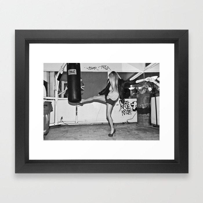 Heel Kick Framed Art Print