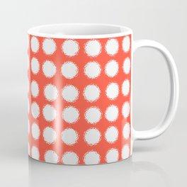 milk glass polka dots fiesta red Coffee Mug