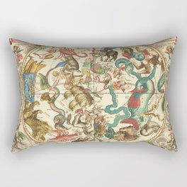 Vintage Astronomical Print - Cellarius - The Southern Hemisphere, 1660 Rectangular Pillow