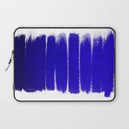 Shel - abstract painting painterly brushstrokes indigo blue bright happy paint abstract minimal mode Laptop Sleeve