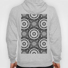 Geometric black and white Hoody