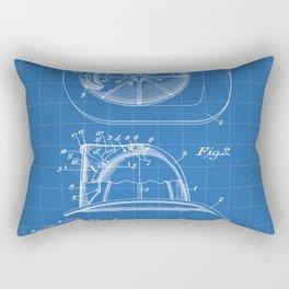 Firemans Helmet Patent - Fire Fighter Art - Blueprint Rectangular Pillow